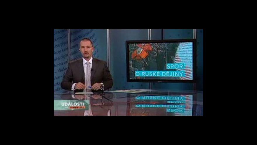 Video Události, komentáře o sporu o ruské dějiny