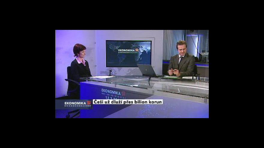 Video Marta Gellová a Tomáš Komčala hosty Ekonomiky ČT24