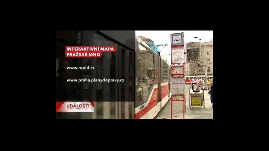 Video Pražská MHD má interaktivní mapu