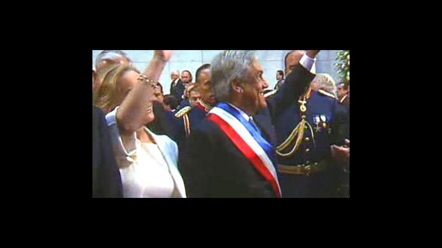 Video Nový chilský prezident se ujal funkce