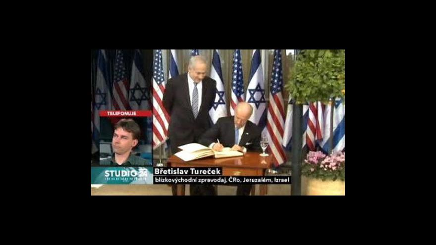 Video Studio ČT24 o mírovém jednání na Blízkém východě
