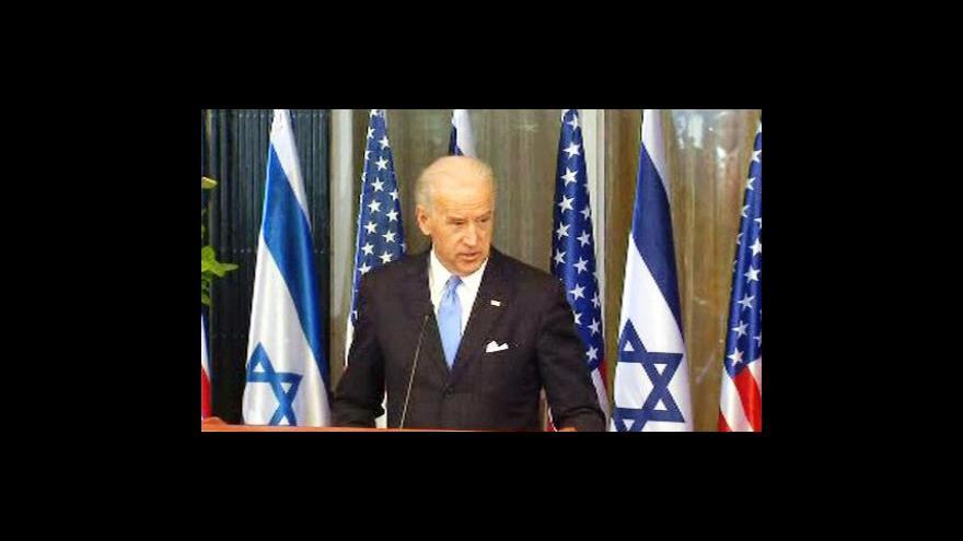 Video Biden oživuje mírové rozhovory na Blízkém východě