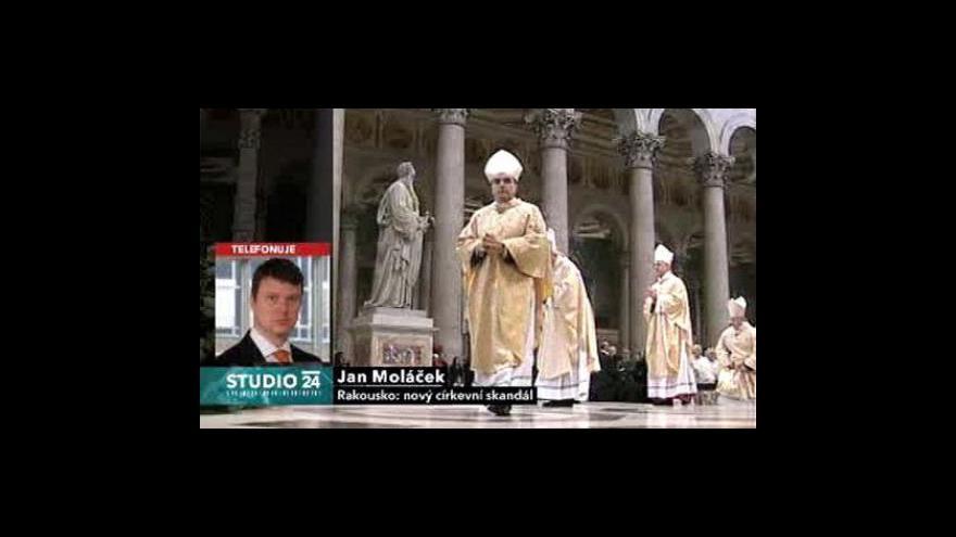 Video Studio ČT24 k církevnímu skandálu v Rakousku