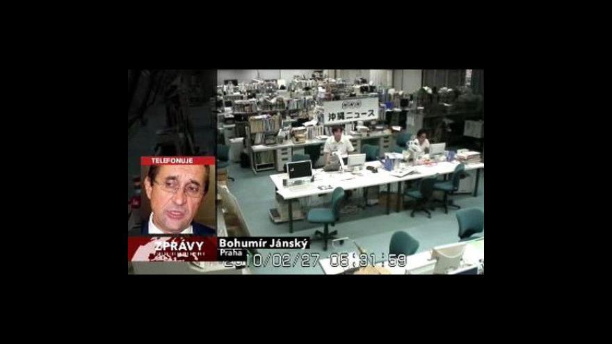 Video Bohumír Jánský o zemětřesení v Chile