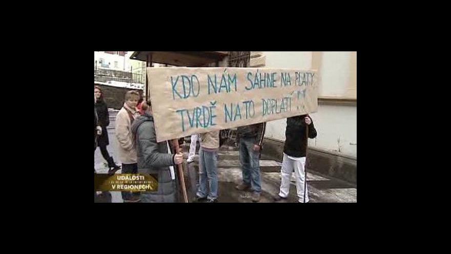 Video Protesty v karlovarské nemocnici