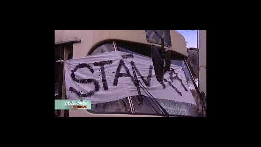 Video Dopravní stávka v Událostech, komentářích