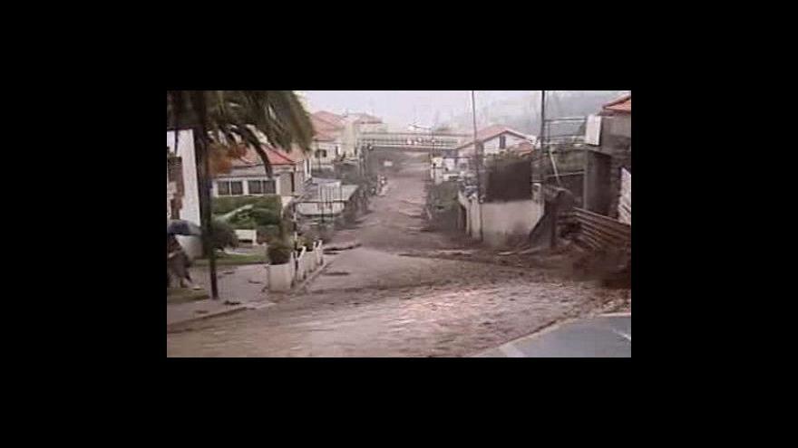 Video Na Madeiře si záplavy vyžádaly už 38 mrtvých
