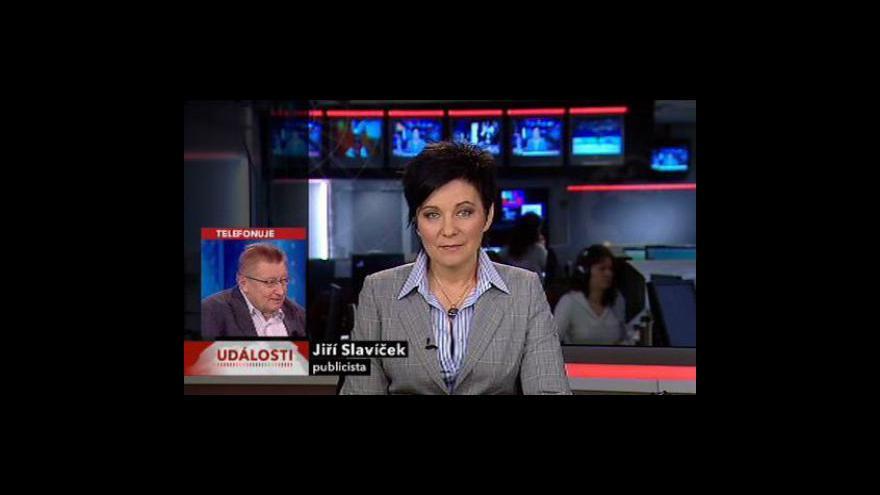 Video Telefonát Jiřího Slavíčka