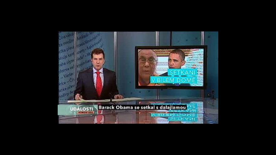 Video Události, komentáře o setkání Obamy s dalajlamou