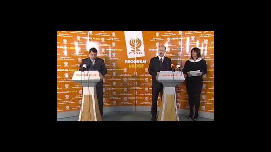 Video Brífink ČSSD o ekonomických prioritách