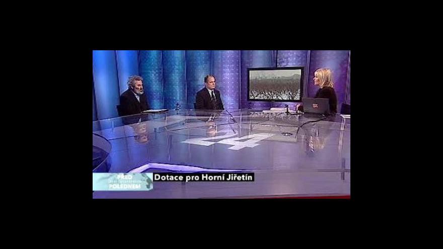 Video Studio ČT24 o dotacích pro Horní Jiřetín