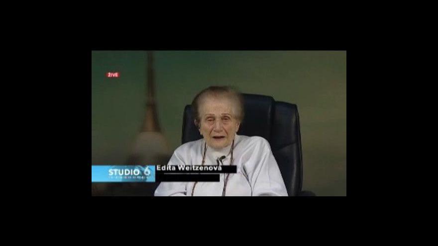 Video Edita Weitzenová v rozhovoru pro Studio6 ČT24