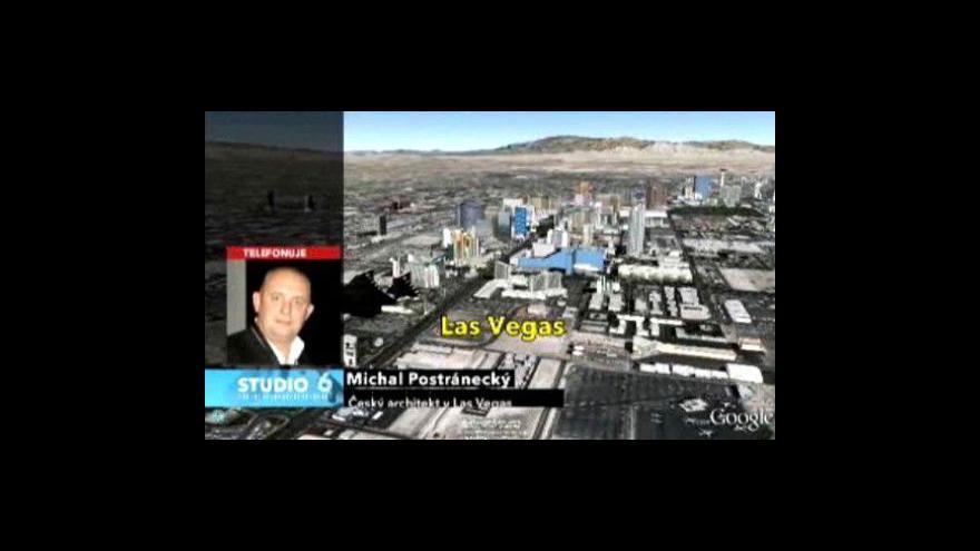Video Michal Postránecký telefonuje z Las Vegas