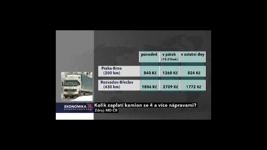 Video Kamiony platí vyšší mýtné