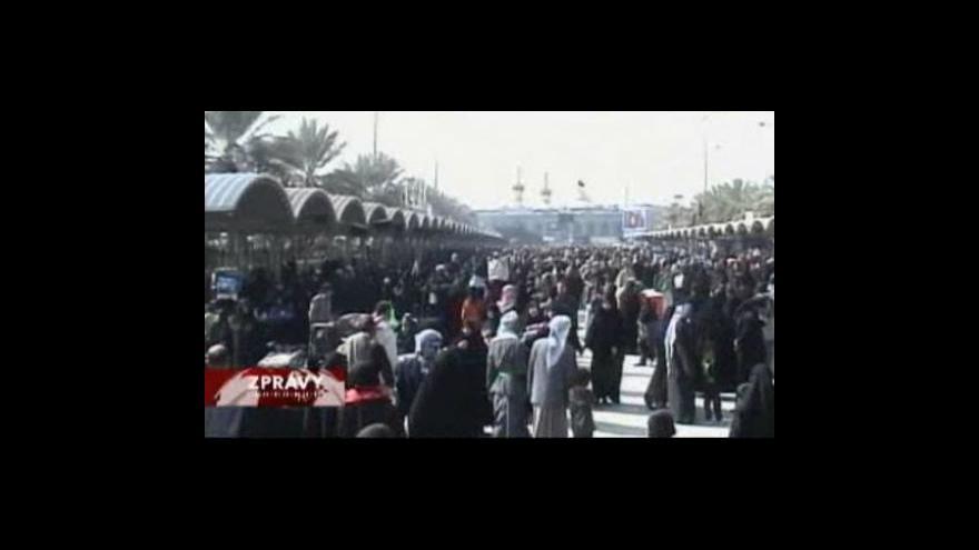 Video Šíité putují do Karbaly
