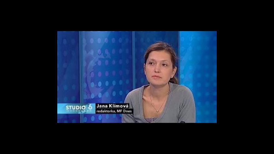 Video Jana Klímová ve Studiu ČT24