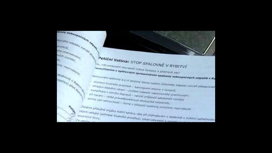 Video Michal Klokočník ke sporu o spalovnu v Rybitví