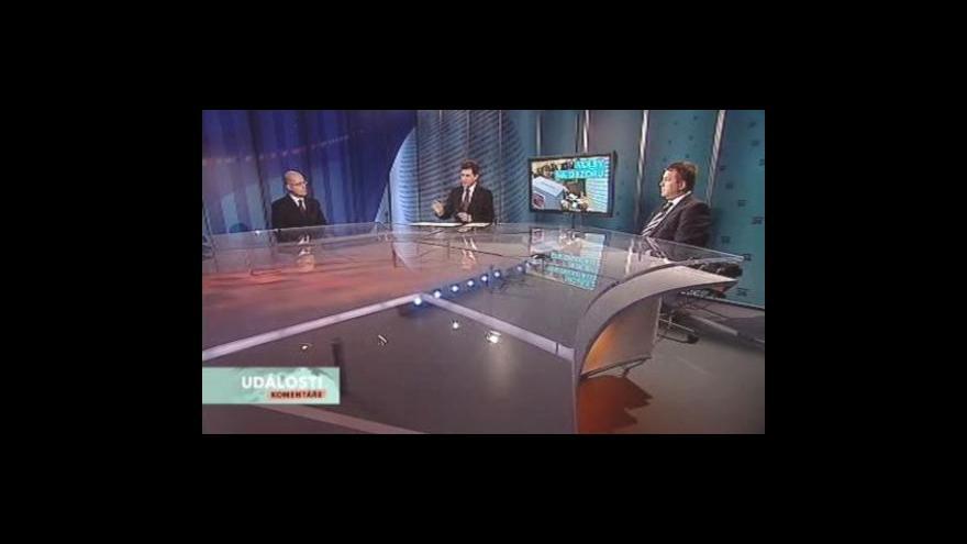 Video Petr Tluchoř s Bohuslav Sobotka hosty Událostí, komentářů