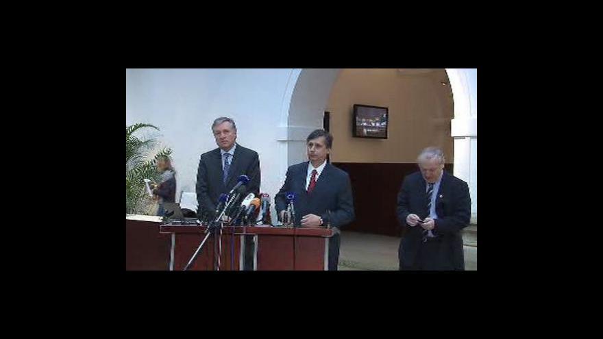 Video Brífink po jednání o konvergenčním programu
