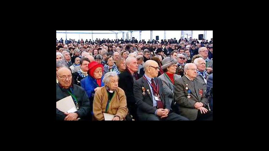 Video Vzpomínkový ceremoniál k 65. výročí osvobození koncentračního tábora v Osvětimi