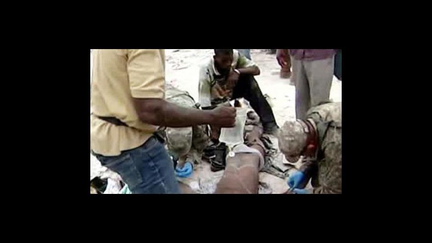 Video Záchranné akce na Haiti