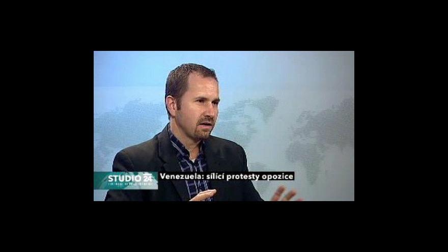 Video Studio ČT24 k rezignaci venezuelského viceprezidenta