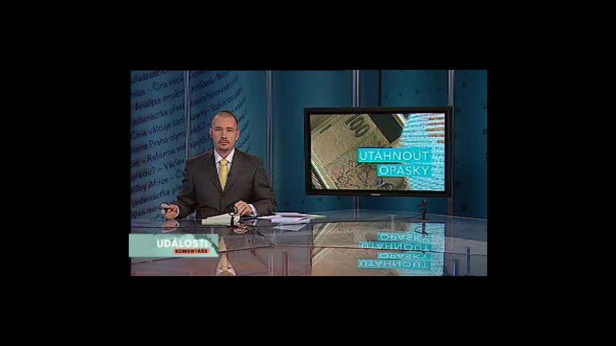 Video Události, komentáře o cestě z krize
