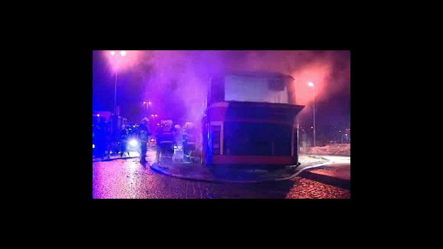 Video Požár autobusu