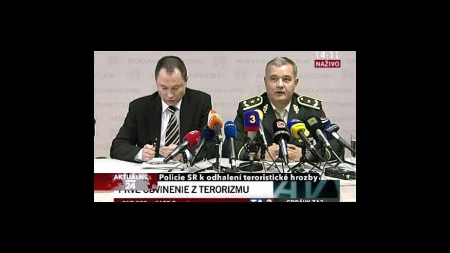 Video Brífink k teroristické hrozbě na Slovensku