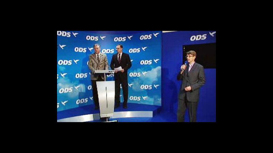 Video Brífink ODS k volebním kandidátkám