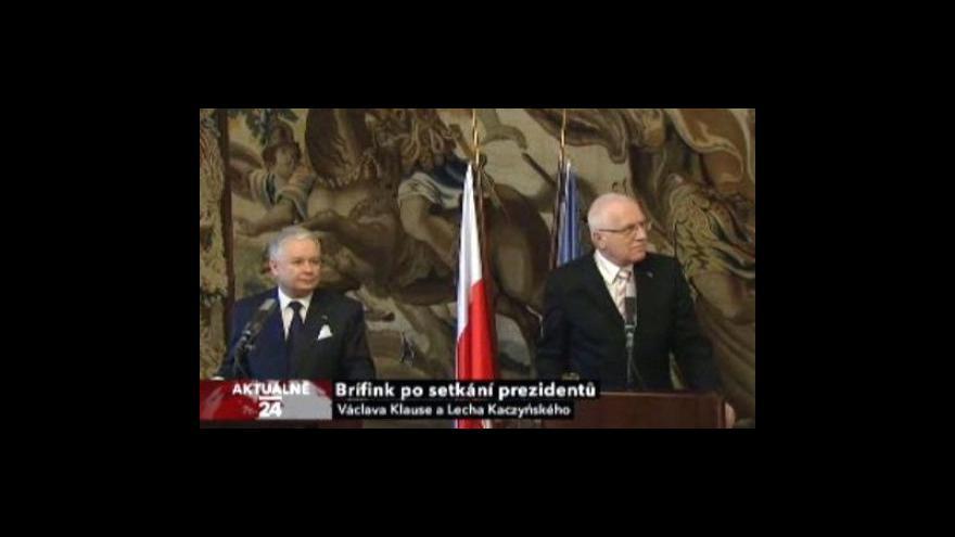 Video Brífink Klause a Kaczyńského
