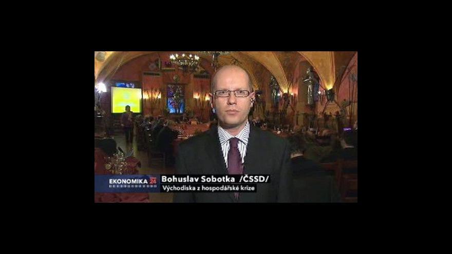 Video Ekonomika ČT24: Východiska z hospodářské krize