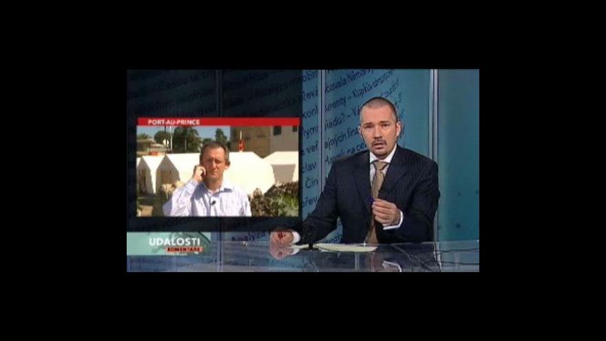 Video Michal Kubal z Haiti pro Události, komentáře