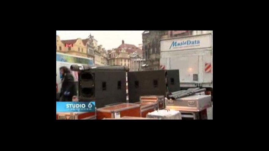 Video Z místa příprav koncertu informuje Lenka Drmotová
