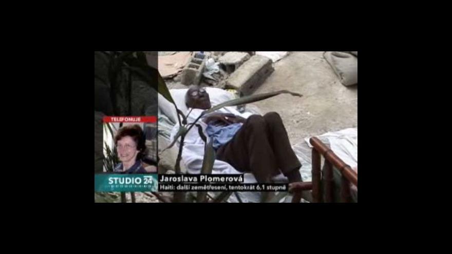 Video Studio ČT24 - Haiti se znovu otřáslo