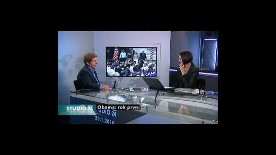 Video Studio ČT24 - Obama rok u moci