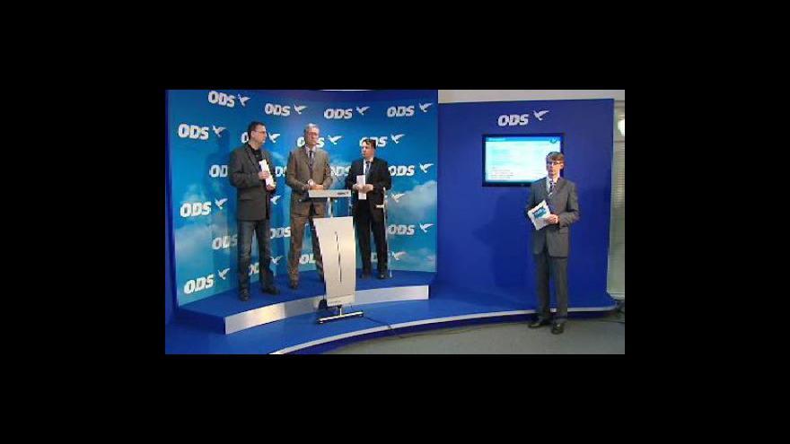 Video Brífink ODS k protideficitním opatřením