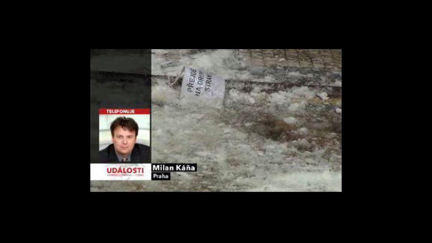 Video Padající sníh zranil děti