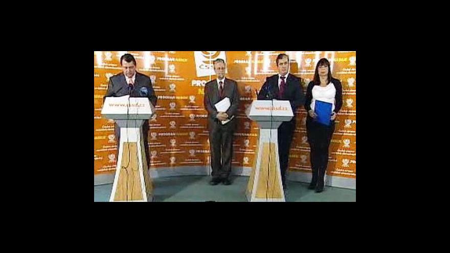 Video Brífink ČSSD k protikorupčním opatřením