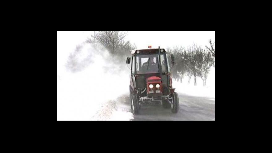 Video Česko je opět pod sněhem