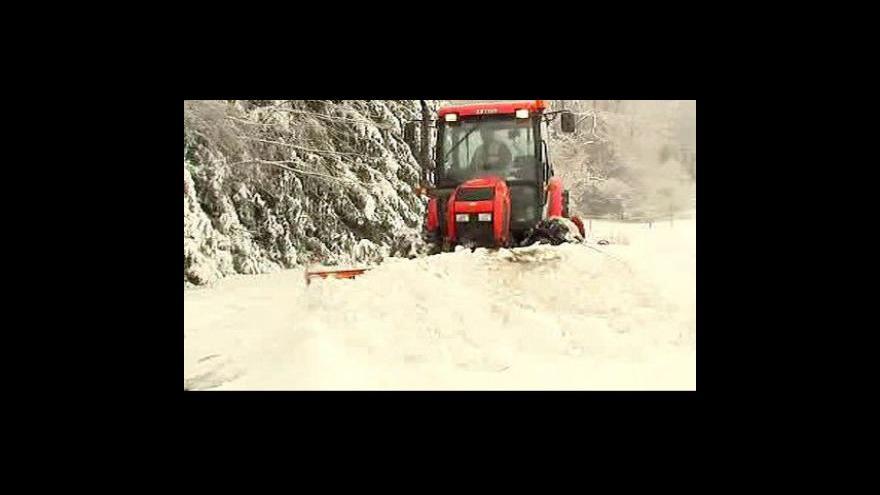 Video Česko je znovu pod sněhem