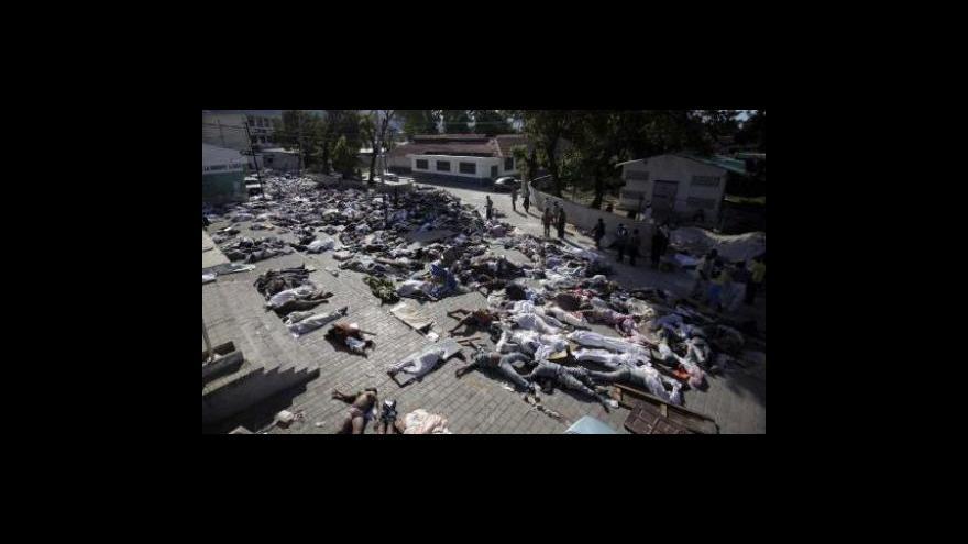 Video Studio ČT24 o katastrofě na Haiti