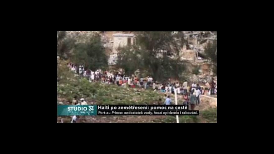 Video Haiti po zemětřesení - pomoc na cestě