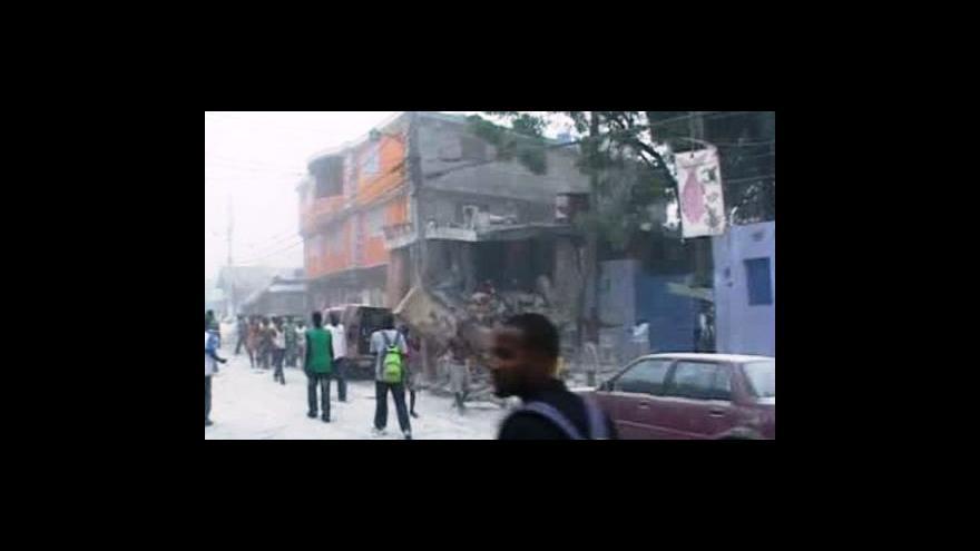 Video Haiti zasáhlo silné zemětřesení