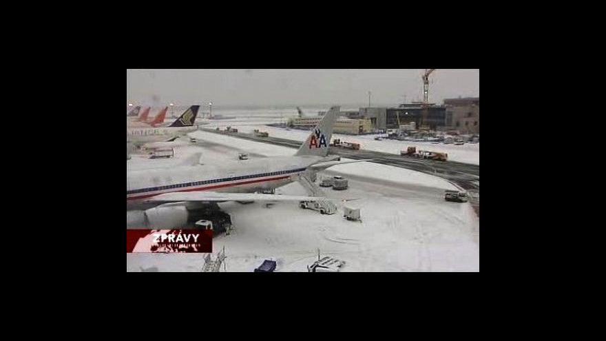 Video Evropa leží pod sněhem