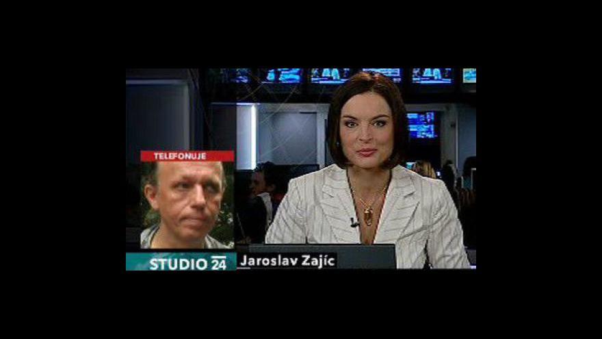 Video Telefonát Jaroslava Zajíce ve Studiu ČT24