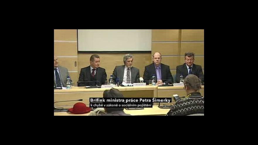 Video Brífink k chybě v zákoně o sociálním pojištění
