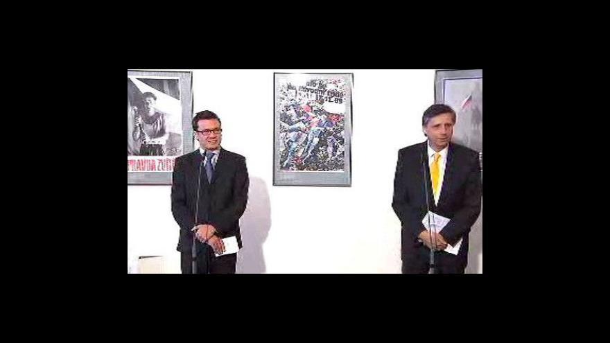 Video Tisková konference Jana Fischera a Ondřeje Lišky