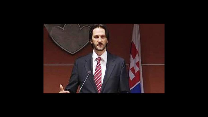 Video Brífink slovenského ministra vnitra