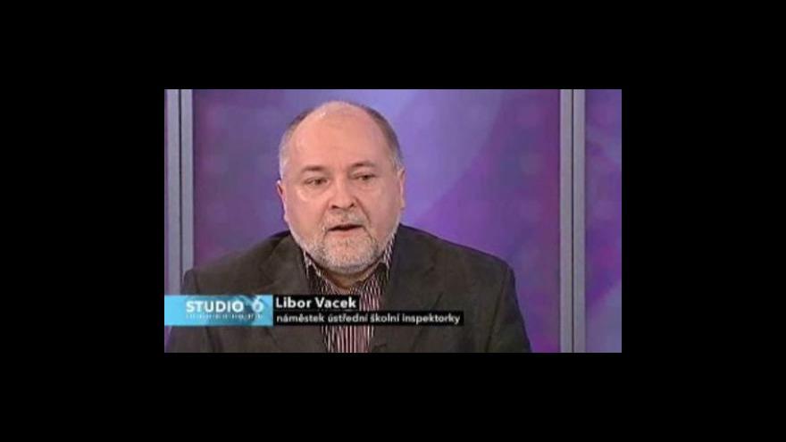 Video Náměstek Libor Vacek ve Studiu ČT24